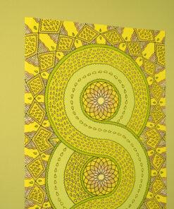 Mid View Yellow Infinity Mandala